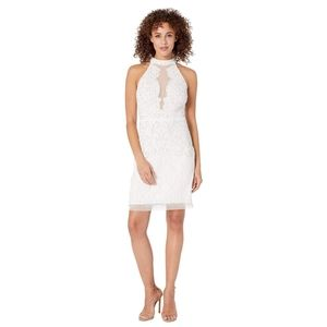 NWT Adrianna Papell Women's Halter Beaded Dress
